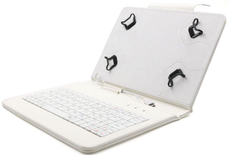 """C-Tech PROTECT pouzdro univerzální s klávesnicí pro 7""""-7,85"""" tablety, FlexGrip (NUTKC-01W) bílé"""