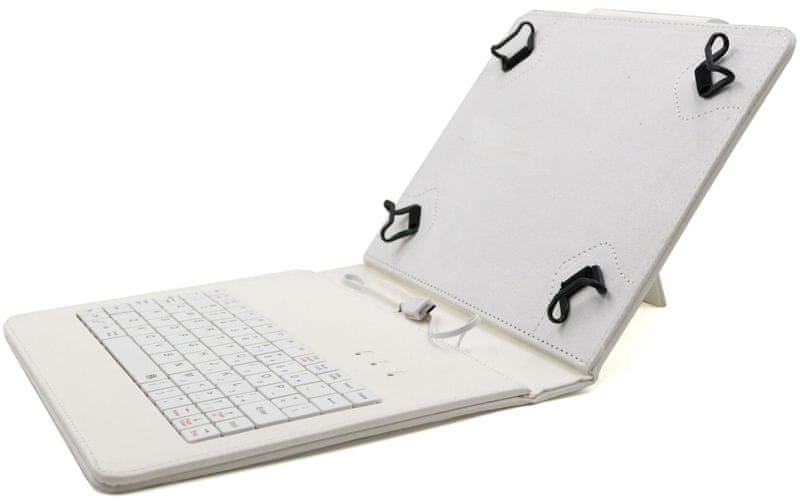 """C-Tech PROTECT pouzdro univerzální s klávesnicí pro 8"""" tablety, FlexGrip (NUTKC-02W) bílé"""