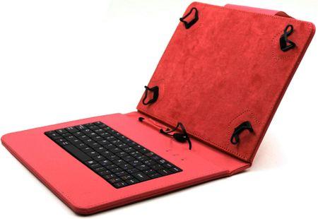 """C-Tech PROTECT puzdro univerzálne s klávesnicou pre 10,1"""" tablety, FlexGrip (NUTKC-04R) červené"""