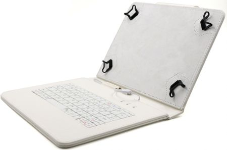 """C-Tech PROTECT pouzdro univerzální s klávesnicí pro 10,1"""" tablety, FlexGrip (NUTKC-04W) bílé"""