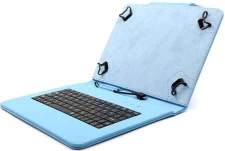"""C-Tech PROTECT puzdro univerzálne s klávesnicou pre 10,1"""" tablety, FlexGrip (NUTKC-04L) modré"""