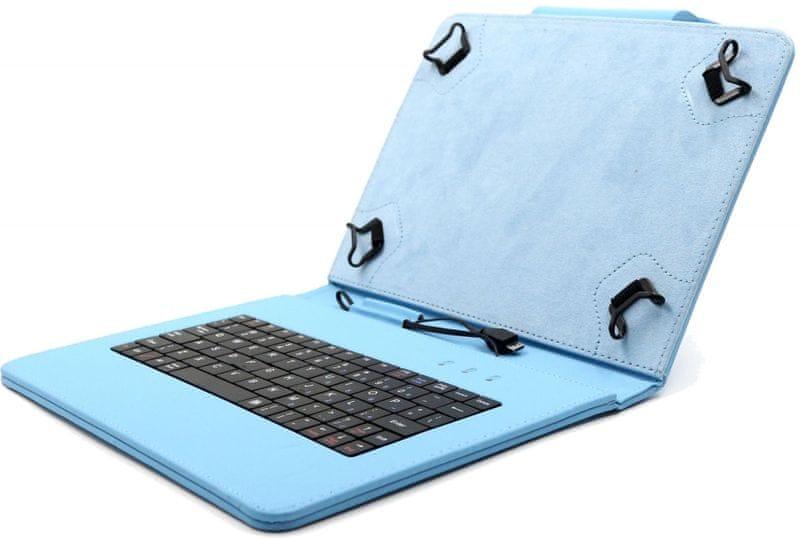 """C-Tech PROTECT pouzdro univerzální s klávesnicí pro 10,1"""" tablety, FlexGrip (NUTKC-04L) modré"""