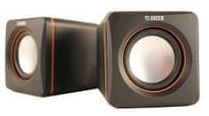 S-box zvočniki SP-02 prenosni črni