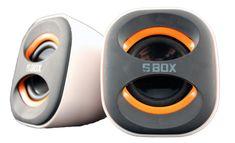 S-box zvočniki E2N prenosni belo/črni