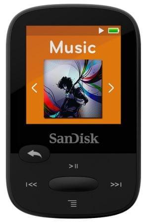 SanDisk odtwarzacz mp3 Clip Sport 8 GB, czarny (SDMX24-008G-G46K)