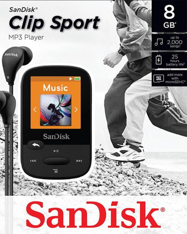 SanDisk Clip Sport / 8 GB (Black)