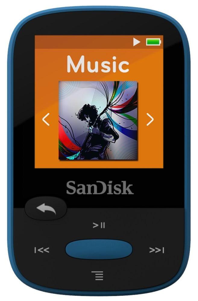 SanDisk Clip Sport / 8 GB (Blue) - zánovní