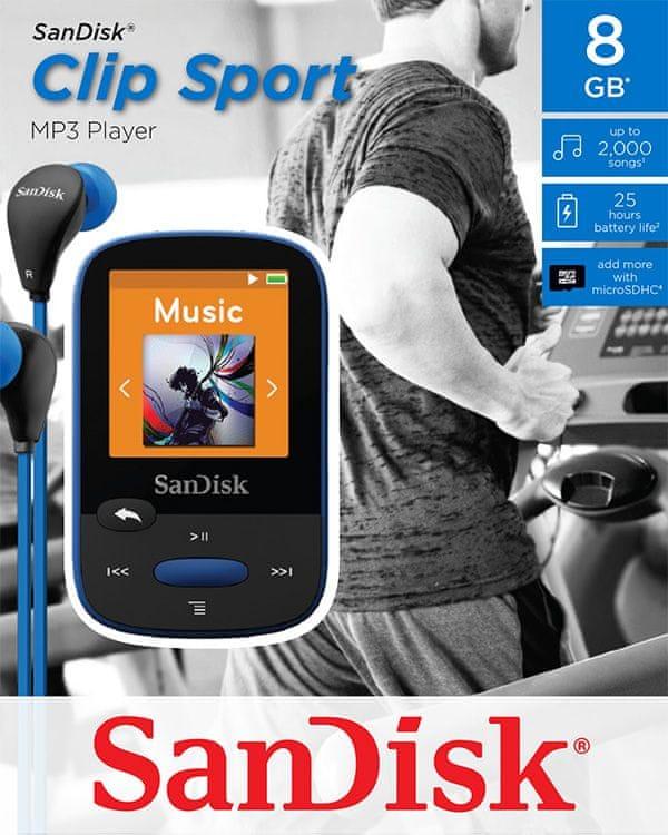 SanDisk Clip Sport / 8 GB (Blue)