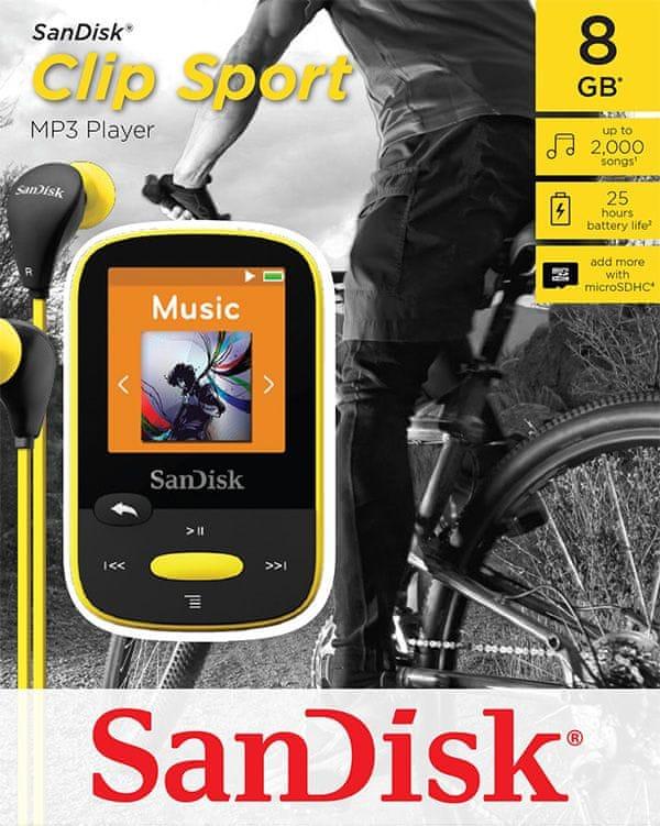 SanDisk Clip Sport / 8 GB (Yellow)