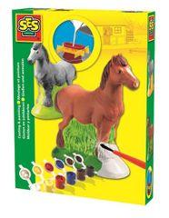 SES Sadrový komplet - kôň