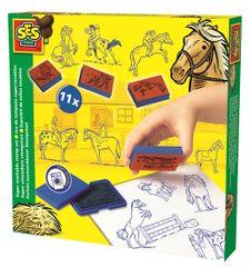 SES Nyomda szett - lovacskák Kreatív játék