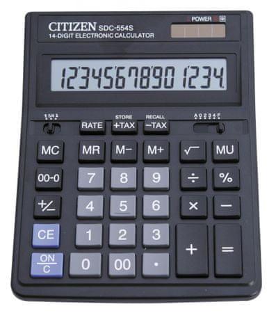 Citizen kalkulator SDC-554S, črn