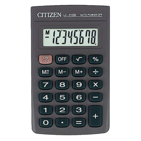 Citizen kalkulator LC-310N, črn