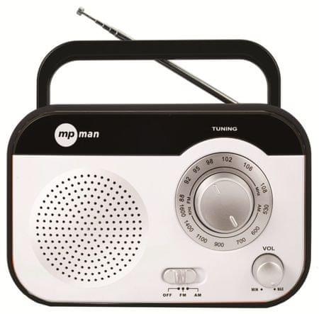 MP Man radio sprejemnik RPS680, črno/bel