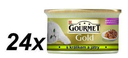 Gourmet Gold zajčja jetrca 24 x 85 g