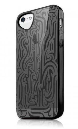ITSKINS Tatoo TPU etui INK + zaščita zaslona za iPhone 5S/5, APH5-NEINK Črna