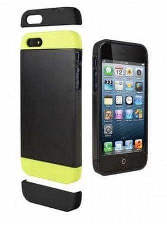 Cygnett Zaščitni etui ALTERNATE + zaščita zaslona za iPhone 5S/5 Črna/zelena