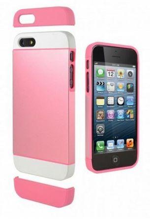 Cygnett Zaščitni etui ALTERNATE + zaščita zaslona za iPhone 5S/5 Bela/roza