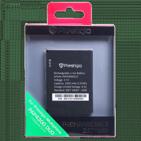 PRESTIGIO MultiPhone 4300 DUO újratölthető akkumulátor (PAP4300BA)