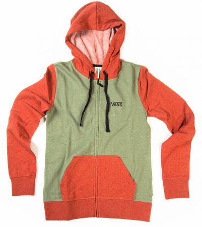 Vans jopica G link Zip-Up Hoodie, ženska, oranžno/zelena, XS