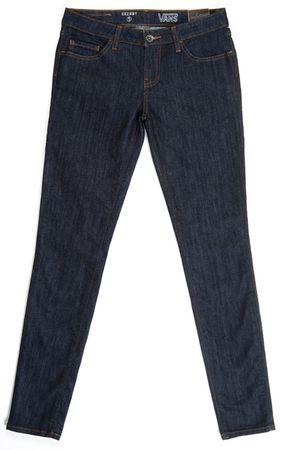 Vans hlače G Skinny Denim, ženske, temno modre, 9