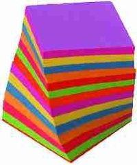 DZS Kocka PVC z barvnimi lističi 9x9x9, 850 lističev