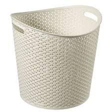 CURVER košara za rublje, ratan, 30 l, bijela