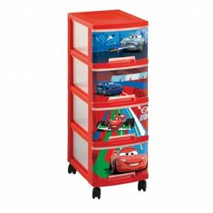 CURVER Regál so 4 zásuvkami 4x10 l CARS