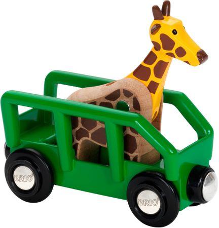 Brio Safari - vagon z žirafo