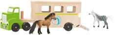 Woody Ciągnik z przyczepą do transportu koni