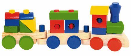 Woody tovorni vlak z dvema vagonoma