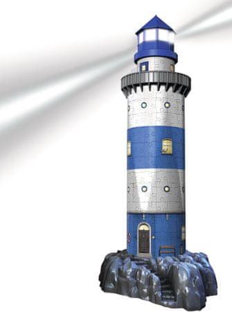 Ravensburger sestavljanka 3D, stvetilnik ponoči