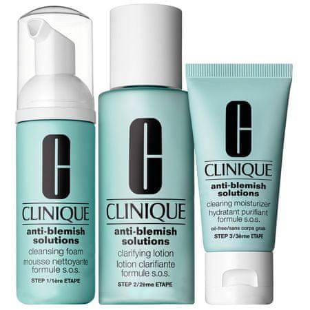 Clinique Zestaw do pielęgnacji skóry twarzy Anti - Blemish Solutions 3-Step System - 180 ml