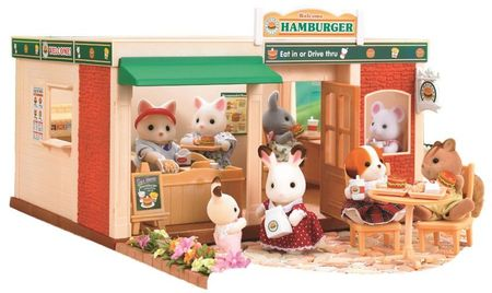 Sylvanian Families Hamburger étterem játék szett