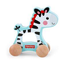 Fisher Price Drewniana Zebra na kółkach 1000_2