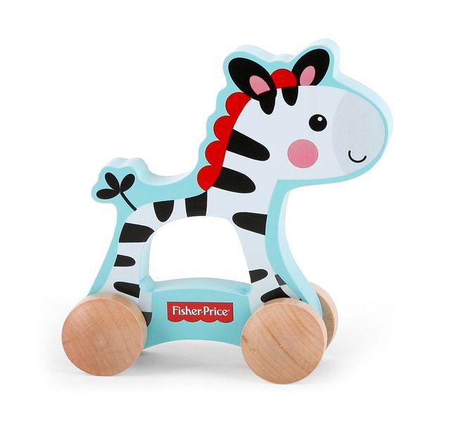 Fisher-Price Zebra na kolečkách dřevěná
