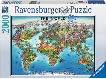 Ravensburger Mapa sveta 2000d