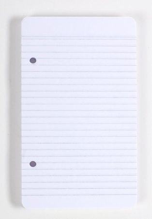 Náhradní vložka A6 100 listů, linka, 2děrová