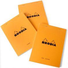 Blok Rhodia Classic A5 linkovaný oranžový