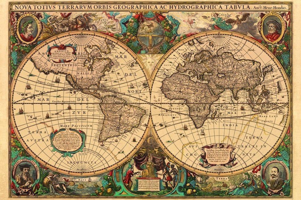 Ravensburger Puzzle Historická mapa 5000d