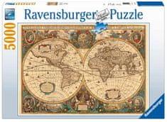 Ravensburger sestavljanka zgodovinski zemljevid sveta - odprta embalaža