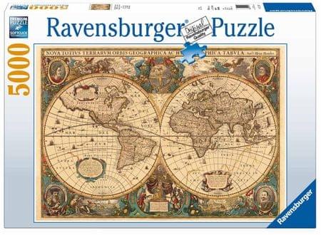 Ravensburger sestavljanka zgodovinski zemljevid sveta