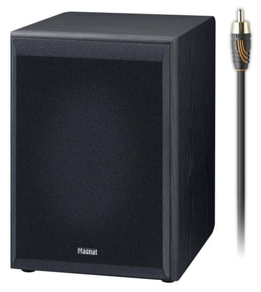 MAGNAT Monitor Supreme Sub 202A (Black) + subwooferový kabel 3 m - II. jakost