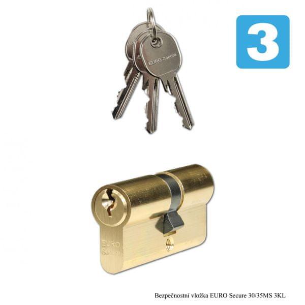 Richter Czech Bezpečnostní vložka EURO Secure 30/35 MS 3 Klíče