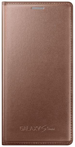 Samsung flipové pouzdro, Galaxy S5 mini, zlatá - II. jakost