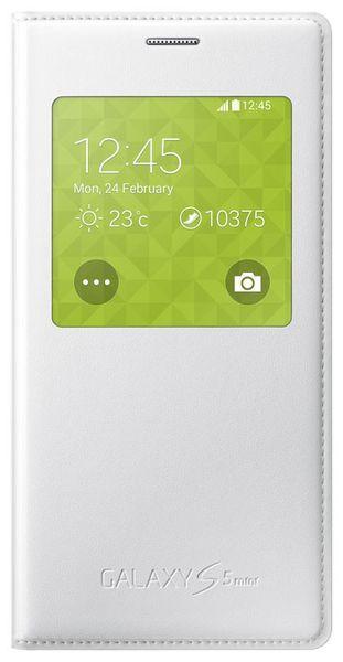 Samsung S-view EF-CG800, Samsung Galaxy S5 mini, bílé