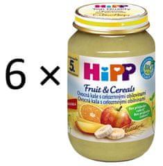 HiPP BIO Ovocná kaše s celozrnnými obilovinami - 6 x 190 g