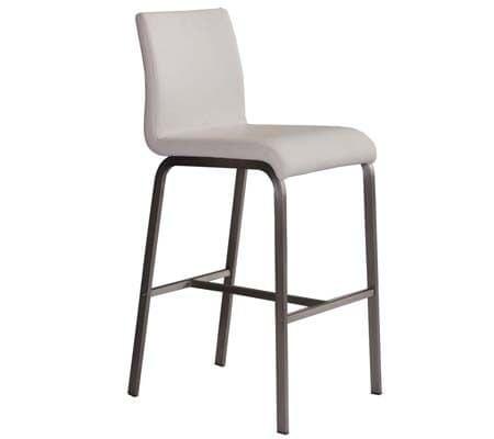 Eleganten DG barski stol bela, 2 kosa