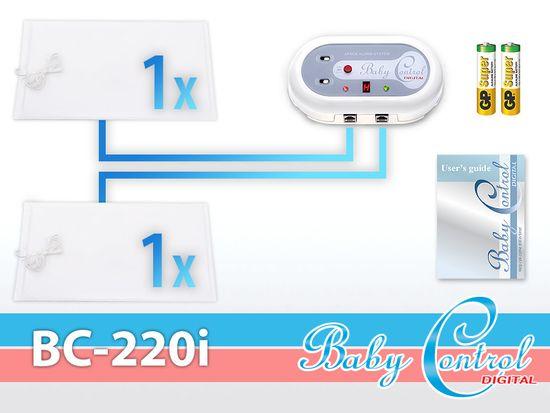 Baby Control Digital Monitor dechu Pro dvojčata - 2 podložky + Dárek DVD - První pomoc dětem
