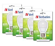 Verbatim LED žárovka, E27 6W 480lm (40W), typ A matná, teplá bílá, 4ks/pack